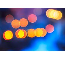 abstract background of blurred lights with bokeh effect Photographic Print