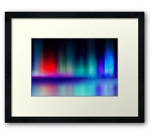 abstract blur and reflection of red and blue radiance of flame Framed Print