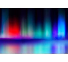abstract blur and reflection of red and blue radiance of flame Photographic Print