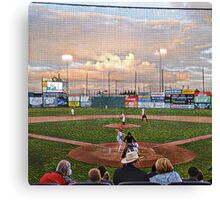 Box seats at the Baseball Game  Canvas Print