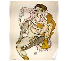 Egon Schiele - Seated Couple, 1915 (1915)  Poster