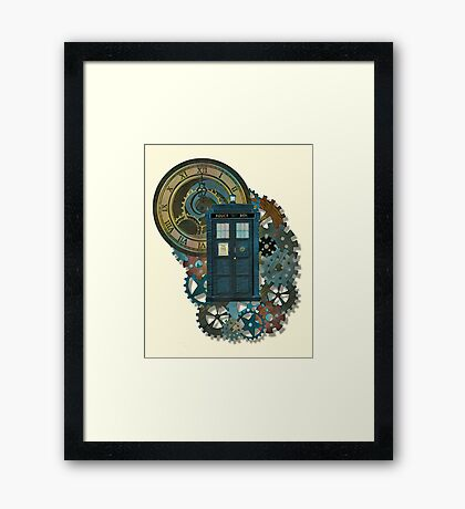 TARDIS Art Doctor Who  Framed Print