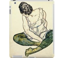 Egon Schiele - Seated Woman With Green Stockings  iPad Case/Skin