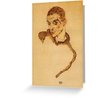 Egon Schiele - Self Portrait 1914 Greeting Card