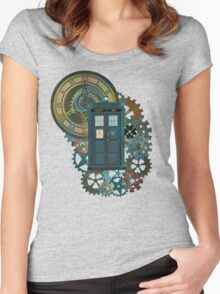 TARDIS Art Doctor Who  Women's Fitted Scoop T-Shirt