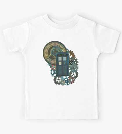 TARDIS Art Doctor Who  Kids Tee