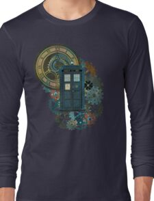 TARDIS Art Doctor Who  Long Sleeve T-Shirt