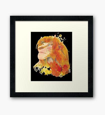 The King of Jungle Framed Print