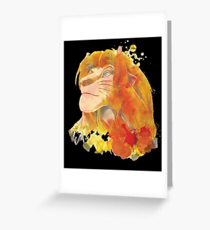 The King of Jungle Greeting Card