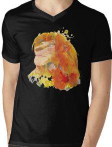 The King of Jungle Mens V-Neck T-Shirt