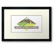 Sneed's Feed and Seed Framed Print