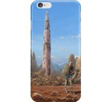 Old Saturn V rocket in desert iPhone Case/Skin