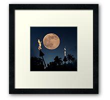 Romantic Super Moon Framed Print