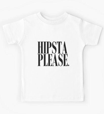 Hipsta Please Black Kids Tee