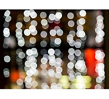 abstract background of blurred lights of restaurant Photographic Print