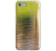 abstract autumn trees reflection in water iPhone Case/Skin