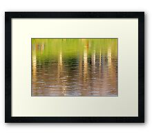 abstract autumn trees reflection in water Framed Print