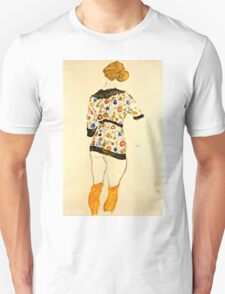 Egon Schiele - Standing Woman in a Patterned Blouse (1912)  Unisex T-Shirt