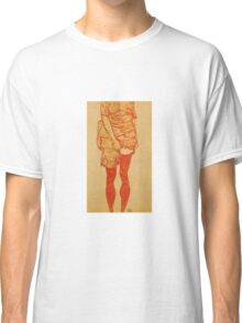 Egon Schiele - Standing Woman In Red 1913 Classic T-Shirt