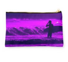 Going Further (Purple, Landscape Surf Photography) Studio Pouch