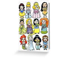Princesses Greeting Card