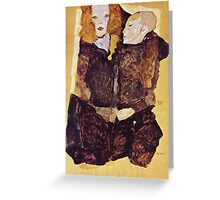 Egon Schiele - The Brother 1911 Greeting Card