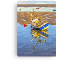 Small boat at Hoylake Canvas Print