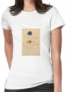 Egon Schiele - Two Friends 1912 Womens Fitted T-Shirt