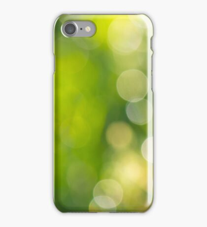 natural blur bokeh of foliage of tree crowns in the daytime iPhone Case/Skin