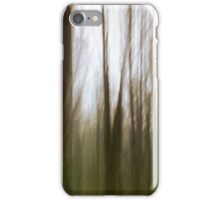 abstract motion blur of trees iPhone Case/Skin