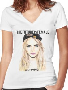 Cara Future Female Women's Fitted V-Neck T-Shirt
