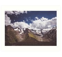 The mighty glaciers Art Print