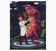 Manga professor with nice Pink Monster Experiment T-Shirt