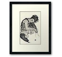 Egon Schiele - Zeichnungen I  (1917)  Framed Print