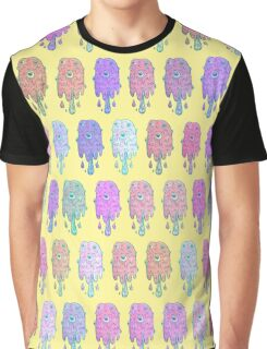 Melting Ice Cream Popsicle Brick Fill Medium Yellow Pattern Graphic T-Shirt