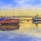 Boats in the morning by Paul Madden
