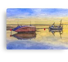 Boats in the morning Canvas Print