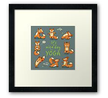 It is a nice day for Yoga Framed Print