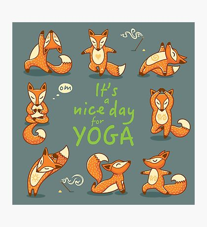 It is a nice day for Yoga Photographic Print