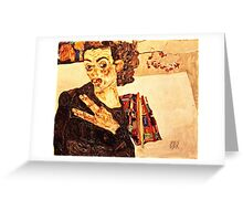 Egon Schiele -Self Portrait  Greeting Card
