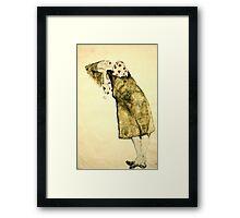 Egon Schiele -Sleeping Girl  Framed Print