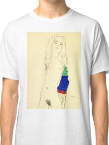 Egon Schiele -Standing Female Nude  Classic T-Shirt