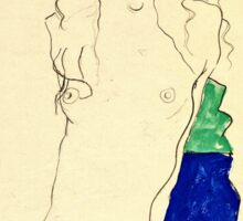 Egon Schiele -Standing Female Nude  Sticker