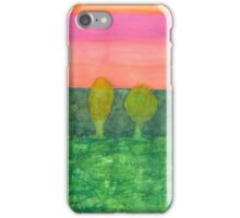 Trees, Green and Evening Sky iPhone Case/Skin