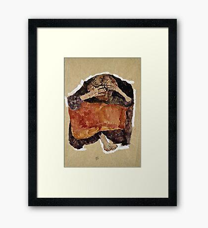 Egon Schiele -Troubled Woman  Framed Print