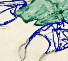 Egon Schiele -Two Friends, Reclining (Tenderness)  Sticker