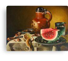 One slice of watermelon Canvas Print