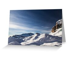 Italian Dolomiti ready for ski season Greeting Card