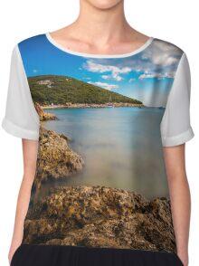 summer day in Croatia Chiffon Top