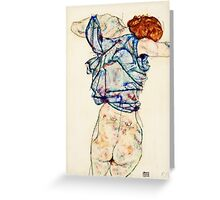 Egon Schiele -Woman Undressing  Greeting Card